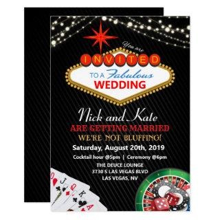 Wedding Vegas Casino Invitations