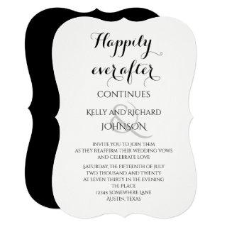 Wedding Vow Renewal - Happily ever after continues Invitations
