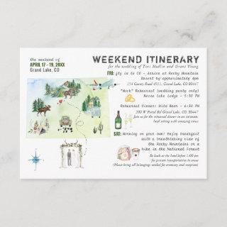 Wedding Weekend in Colorado Itinerary Card