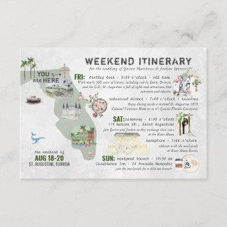 Wedding Weekend in Florida Itinerary Card
