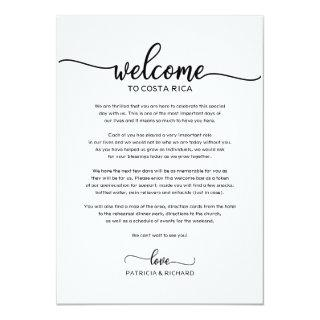 Wedding Weekend Welcome and Itinerary Letter Chic Invitations