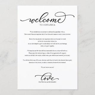 Wedding Weekend Welcome Itinerary Chic Script Invitations