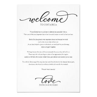 Wedding Weekend Welcome Itinerary Chic Script Invitation