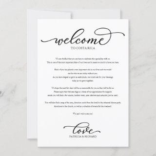 Wedding Weekend Welcome Itinerary Chic Script