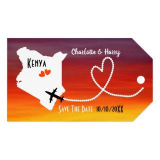 Weddings Abroad Kenya Save The Date Gift Tags