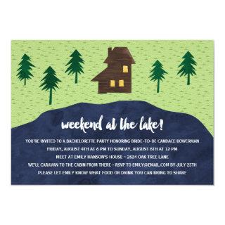 Weekend at the Lake | Rustic Bachelorette Party Invitations