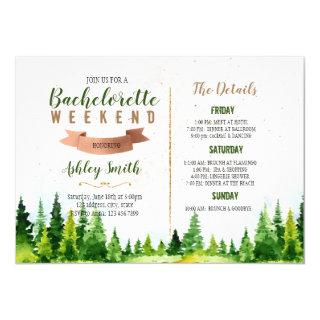 Weekend in the wood bachelorette invitation