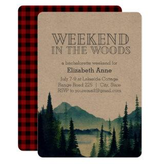 Weekend in the Woods Party Invitations
