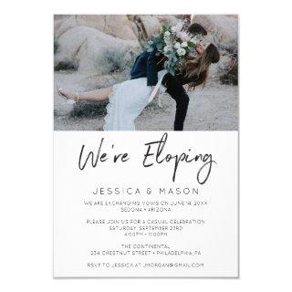We're Eloping Handwritten Invite Announcement
