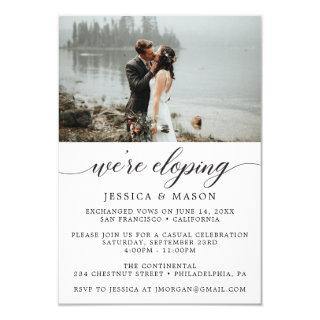 We're Eloping Invite Eloped Announcement