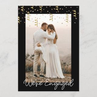 We're Engaged Personalized Photo Engagement Party Invitation