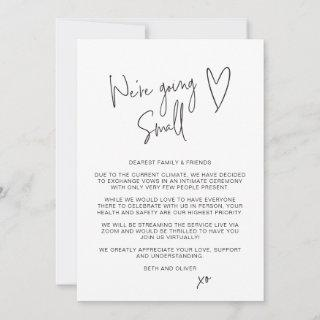 We're Going Small Downsized Script Font  Announcement
