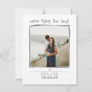 We're Tying The Knot Cute Save the Date Photo