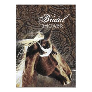 Western Country Cowboy Horse Bridal Shower Invitation