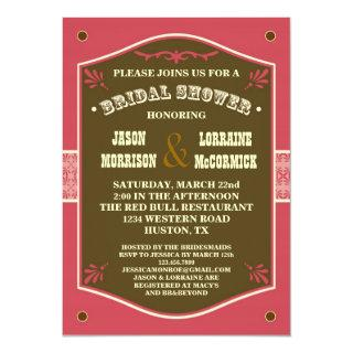 Western Couple's Bridal Shower Invitations