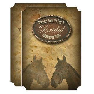 Western Horses Cowgirls Bridal Shower Invitation