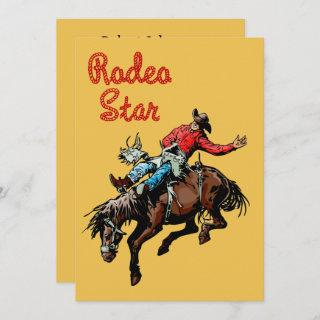 Western Party Rodeo Cowboy Bronc Rider