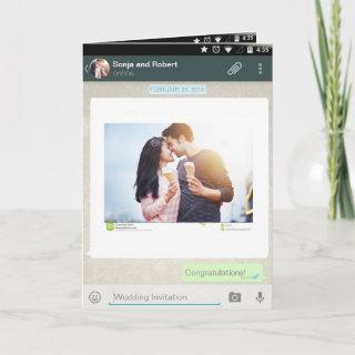 Whatsapp Android iPhone Chat Wedding Invitation