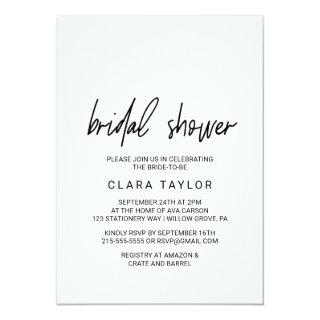 Whimsical Calligraphy Bridal Shower Invitations