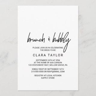 Whimsical Calligraphy Brunch & Bubbly