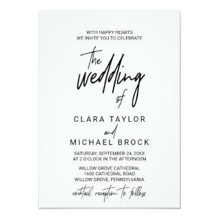 Whimsical Calligraphy | Cocktail Reception Wedding Invitations