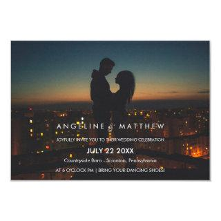 Whimsical Calligraphy | Faded Photo The Wedding Of Invitations