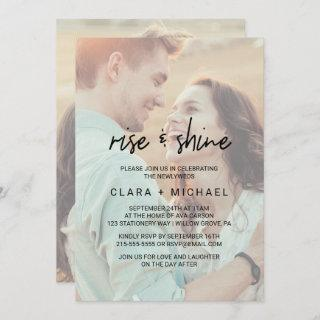 Whimsical Calligraphy | Faded Photo Wedding Brunch
