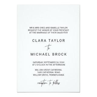 Whimsical Calligraphy Formal Wedding Invitations
