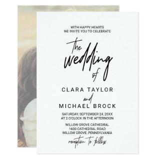 Whimsical Calligraphy | Photo Back The Wedding Of Invitations