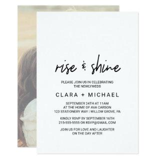 Whimsical Calligraphy | Photo Back Wedding Brunch Invitations