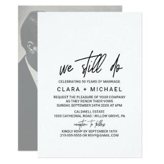 Whimsical Calligraphy | Photo Backing Vow Renewal Invitations