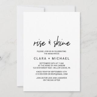 Whimsical Calligraphy Wedding Brunch Invitations