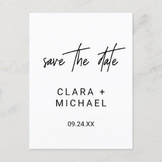 Whimsical Calligraphy Wedding Save the Date Invitations Postcard