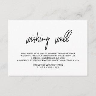 Whimsical Calligraphy Wedding Wishing Well Enclosure Card