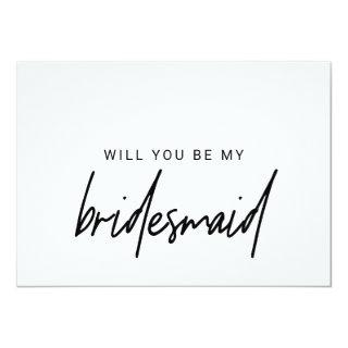 Whimsical Calligraphy Will You Be My Bridesmaid Invitations