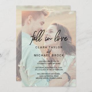 Whimsical Fall In Love All In One Wedding Invitations