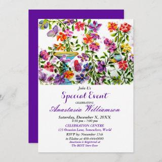 WHIMSICAL GARDEN PARTY EVENT INVITE