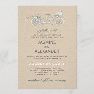 Whimsical Tandem Bicycle - Wedding Invitations