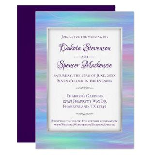 Whimsical Wedding | Chic Rainbow Pastel Watercolor Invitation