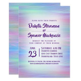 Whimsical Wedding | Soft Colorful Pastel Rainbow Invitation
