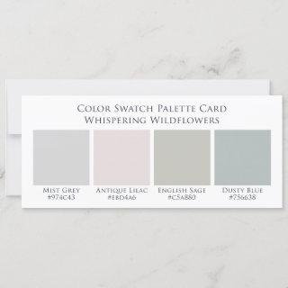 Whispering Wildflowers Color Swatch Palette Card