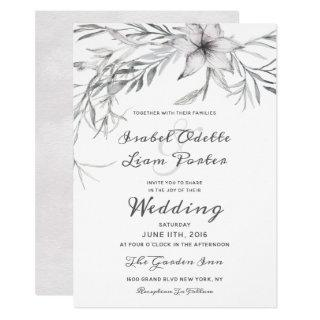 Whispering Wildflowers Watercolor Wedding Ceremony Invitations