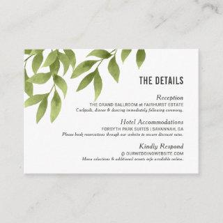 Whispering Willows Watercolor Wedding Details Enclosure Card