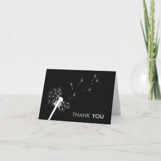 White Dandelion Thank You Cards