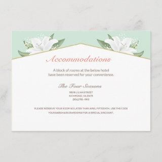 White Lilies & Mild Mint Accommodations Card