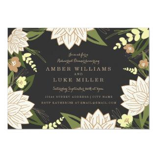White Lotus Rehearsal Dinner Invitation