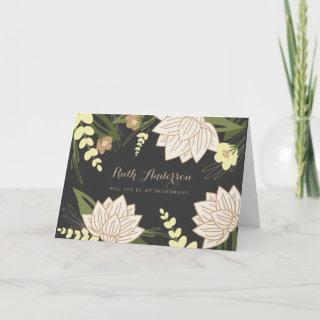 White Lotus Wedding Party Card