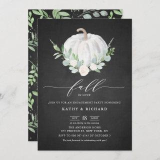 White Pumpkin Chalkboard Fall Engagement Party