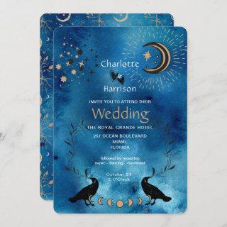 Wiccan Magic Constellation Unusual Wedding Invitation