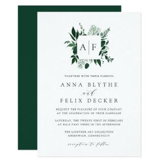 Wild Forest Monogram Wedding Invitations